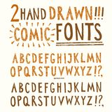 Hand drawn vector fonts set Royalty Free Stock Images