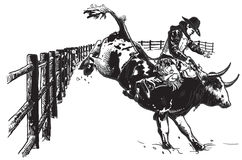 An hand drawn vector, freehand - Rodeo Stock Photo