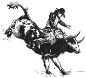 An hand drawn vector, freehand - Rodeo Stock Photography