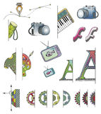 Hand Drawn Vector FS Icons Stock Photography