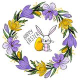 Happy easter invitation vector illustration