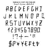 Hand drawn vector grunge alphabet Stock Image