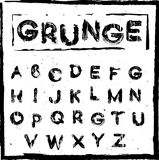 Hand drawn vector grunge letters Royalty Free Stock Photography