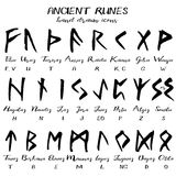 Hand drawn vector grunge rune alphabet Royalty Free Stock Photography