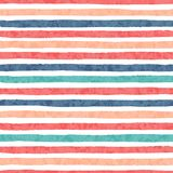Hand drawn vector grunge stripes of red, blue, green and orange colors seamless pattern Royalty Free Stock Photo