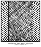 Hand drawn vector hatchwork lines in diagonal patterns and stripes royalty free stock images
