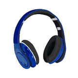 Hand drawn VECTOR headphones. Blue. Hand drawn VECTOR headphones isolated on white. Blue Royalty Free Stock Photos