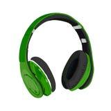 Hand drawn VECTOR headphones. Green. Hand drawn VECTOR headphones isolated on white. Green Royalty Free Stock Image