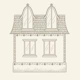 Hand drawn vector house Stock Photos
