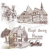 Hand drawn vector houses Royalty Free Stock Photo