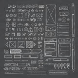 Hand drawn vector icons set website development doodles elements. Stock Images