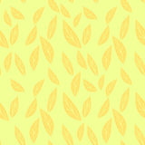 Hand drawn vector illustration. Abstract foliage seamless patter Stock Images
