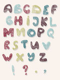 Hand-drawn vector illustration of alphabet letters Stock Image