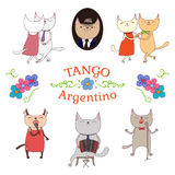 Argentine tango design elements Royalty Free Stock Photo