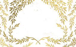 Hand drawn vector illustration - Background with vintage branche Royalty Free Stock Photos
