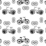 Hand drawn vector illustration,bicycle on white background royalty free illustration