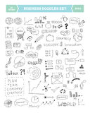 Business doodle elements set Stock Photography