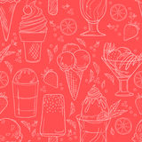 Hand drawn vector illustration - Collection of ice cream. Royalty Free Stock Photo