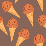 Hand drawn vector illustration - Collection of ice cream. Royalty Free Stock Photos