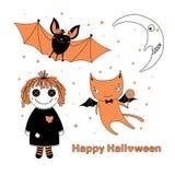 Halloween greeting card vector illustration