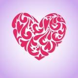 Hand drawn vector illustration - decorative heart.  royalty free illustration