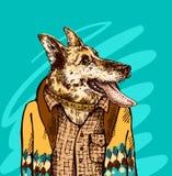 Hand drawn vector illustration dog. Royalty Free Stock Photography
