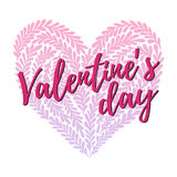 Hand drawn vector illustration - Happy Valentine day. Lettering Royalty Free Stock Photos