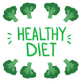 Hand Drawn vector illustration. Healthy diet Royalty Free Stock Images