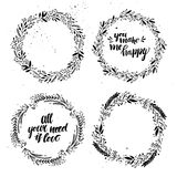 Hand drawn vector illustration - Laurels and wreaths. Royalty Free Stock Photography