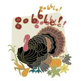Turkey bird for Thanksgiving. Royalty Free Stock Images