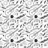 Hand drawn vector illustration - Mexico. Music festival. Stock Photos