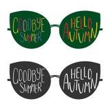 Goodbye Summer, Hello Autumn glasses Royalty Free Stock Image