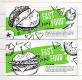 Hand drawn vector illustration - Promotional brochure with fast Royalty Free Stock Image