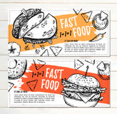 Hand drawn vector illustration - Promotional brochure with fast Royalty Free Stock Images