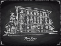 Hand drawn vector illustration. Rome. Stock Photos