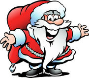 Hand-drawn Vector illustration of an Santa Claus. Vector illustration of an Santa Claus Royalty Free Stock Photo