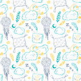Hand drawn vector illustration - Seamless pattern Royalty Free Stock Images