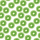 Hand-drawn vector illustration - Seamless pattern with kiwi. Stock Photos