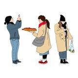 Hand drawn vector illustration set people royalty free illustration