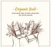 Hand drawn vector illustration - Supermarket shopping bag Stock Photo
