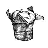 Hand drawn vector illustration - Sweet cake. Stock Photography
