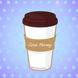 Hand drawn vector illustration - Take coffee to go.  Royalty Free Stock Photography