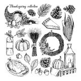 Hand drawn vector illustration - Thanksgiving collection. Perfec Royalty Free Stock Images