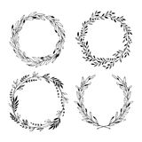 Hand drawn vector illustration. Vintage decorative laurel wreath royalty free illustration