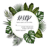 Hand drawn vector illustration - wedding invitation RSVP with pa Royalty Free Stock Image