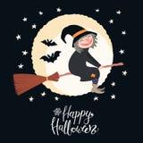 Halloween witch illustration stock illustration