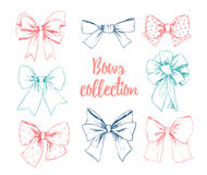 Hand drawn vector illustrations. Different types of bows. Perfec Royalty Free Stock Photo