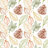 Hand drawn vector illustrations. Seamless pattern Stock Image