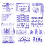 Hand drawn vector info graphics  illustration. Royalty Free Stock Images