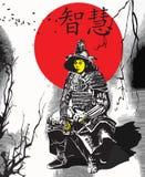 An hand drawn vector from Japan Culture - Samurai, Shogun. An hand drawn vector, freehand sketching. Portrait of an unknown Japan warrior, Samurai (Shogun) royalty free illustration
